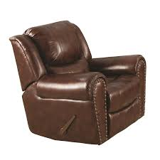 Faux Leather Recliner Shop Sunset Trading Oxford Brown Faux Leather Recliner At Lowes Com