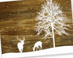 christmas cards sale modern nature inspired christmas by inkdropdesign