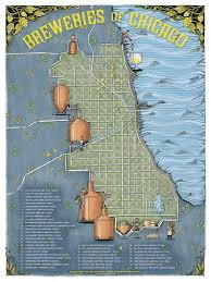 Maps Of Chicago by Illustrated Map Of The Breweries Of Chicago Album On Imgur