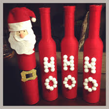 red yarn wrapped christmas wine bottles diy pinterest