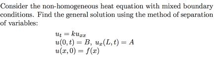 partial differential equations pde non homogene chegg com