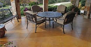 Dyed Concrete Patio by Stained Concrete Patios The Concrete Network