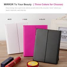 assis led lighted makeup mirror approved travel lighted makeup mirror tri fold adjustable led touch