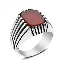 men ring agate men ring in sterling silver from turkstyleshop