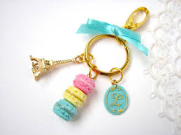 key rings tiffany images Gold macaron keychain clay food accessories key rings swarovski jpg