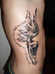 angel wing tattoo art and designs