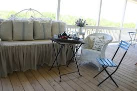 Daybed Skirts Dreamy Daybed Redo With Feedsacks And Linen Cedar Hill Farmhouse