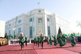 Flag Of Turkmenistan Opening Ceremony Of The Building Of The Mary Velayat Directorship