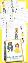 free beauty beast printables preschool kindergarten