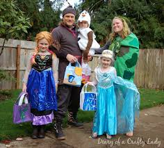 family halloween costumes 2014 diary of a crafty lady happy halloween from the frozen family 2014