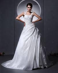 taffeta tulle ruffle applique baldric chapel a line bridal gown