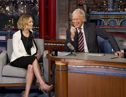 David Letterman Desk Jennifer Lawrence Nearly Mobbed By Fans After U0027late Show U0027 La Times