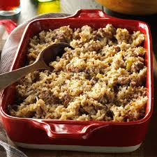 dressing recipe for thanksgiving hearty rice dressing recipe taste of home