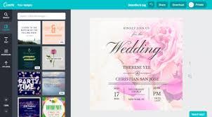 wedding invitations design online create a wedding invitation in canva wedding invitations create