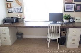Computer Desk With Filing Drawer Diy File Cabinet Desk Tutorial File Cabinet Desk Diy File