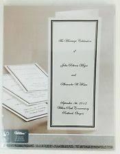 Bi Fold Wedding Program Wilton Wedding Programs Ebay