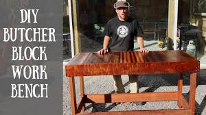 building a diy butcher block work bench youtube building a diy butcher block work bench
