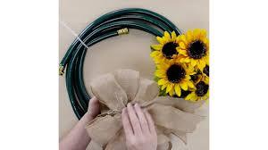 diy garden hose wreath tutorial budget home decor crafts youtube