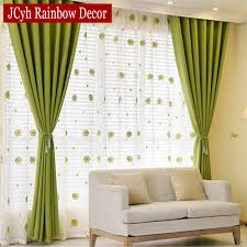 Green Kids Curtains Aliexpress Com Buy Solid Blackout Curtains For Bedroom Green