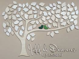 tree guest book wedding guest book alternative unique guestbook wedding sign