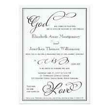 christian wedding invitations simple god is christian wedding invitation christian