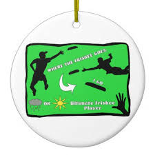 ultimate frisbee nut ceramic ornament zazzle