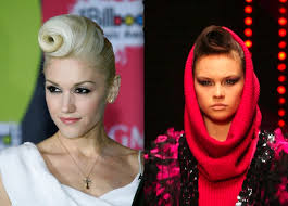 agerd hair styles gwen stefani s space age runway hairstyle funky hairstyles zimbio