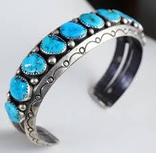 turquoise bracelet images Item 876b xlg heavy vintage navajo 10 stone turquoise stamped JPG