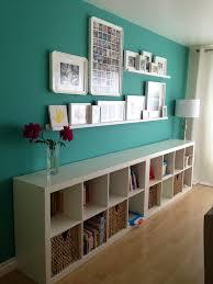 white small floating shelves on white wall design interior