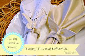 easter napkin rings serendipity refined burlap easter napkin rings pier 1