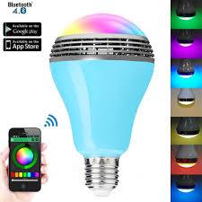 Led Blue Light Bulb by Canbor Wireless Bluetooth Speaker Smart Led Night Light Bulb Audio