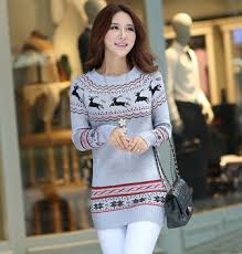 warm womens sweaters fashion pullover warm reindeer sweaters 2015