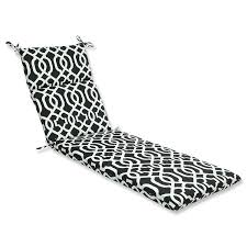 Black Outdoor Chair Cushions Amazon Com Pillow Perfect Outdoor New Geo Chaise Lounge Cushion