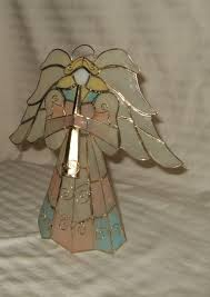 vintage christmas angel tree topper free standing pastel colors