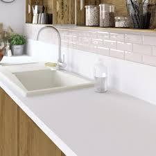 plan de travail cuisine sur mesure stratifié plan de travail stratifié mat edition blanc mat l 315 x p 65 cm