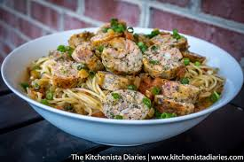 wegmans thanksgiving dinner take out seafood sausage in creole pasta sauce the kitchenista diaries