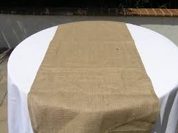 extra wide table runners diy burlap table runner on round wedding table with white fabric