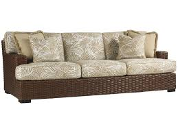 Rattan Settee Tommy Bahama Outdoor Living Ocean Club Pacifica Outdoor Boxed Edge