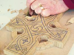 wooden celtic cross carve and fume a celtic cross wood carving magazine