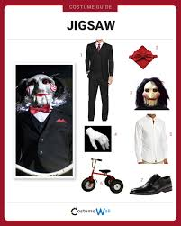 black suit halloween dress like jigsaw costume halloween and cosplay guides