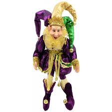 12 mardi gras jester doll 71893 mardigrasoutlet