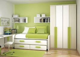 Space Saving Bedroom Ideas For Teenagers by Students Modern Stylish Small Space Saving Bedroom With Lime Green