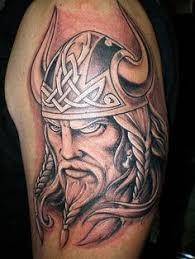 minnesota vikings mascot color tattoo by jason at california