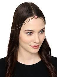 fancy hair pink metal chain fancy hair accessories for women and