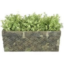 rectangular trough planter wayfair