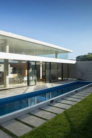 nmd nomadas u0027 concrete and glass house features skinny swimming pool