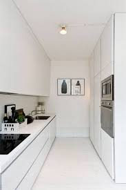 modern galley kitchens modern galley kitchen with simple bulb ceiling light and white
