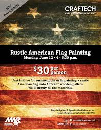 Painting A Flag American Flag Wood Painting