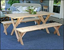 Cedar Patio Table Cedar Picnic Tables Red Cedar Picnic Table Options