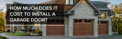 how much does it cost to install a ceiling fan garage door cost installation a all style garage door